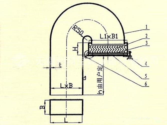 鹅式通风筒气水分离器